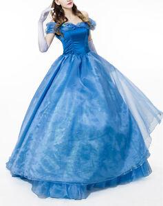 Caricamento dell immagine in corso Cenerentola-Vestito-Carnevale -Donna-Economico-Dress-up-Cinderella- b43b2d0f4cd8