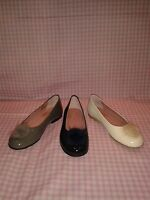 BNWT TNY Girls Patent Leather Classic Ballet Shoes with pompoms