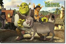 2010 DREAMWORKS SHREK FOREVER AFTER GROUP POSTER NEW 22x34 FREE SHIP