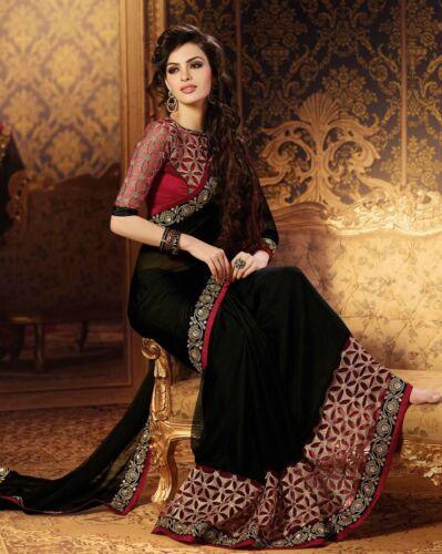 BOLLYWOOD FANCY NEW PARTY WEAR WEDDING BRIDAL ETHNIC SARI INDIAN SAREE PAKISTANI