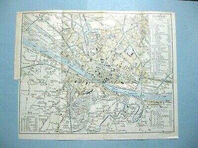 Cartina Di Firenze Centro Da Stampare.Stampa Antica Mappa Carta Stradario Citta Di Firenze Toscana 1914 Ebay