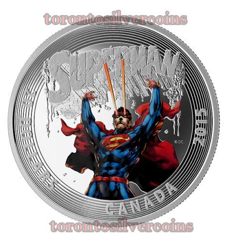 Fine Silver Coin Iconic Superman Comic Book Covers #28 2015 Canada $20 1 oz