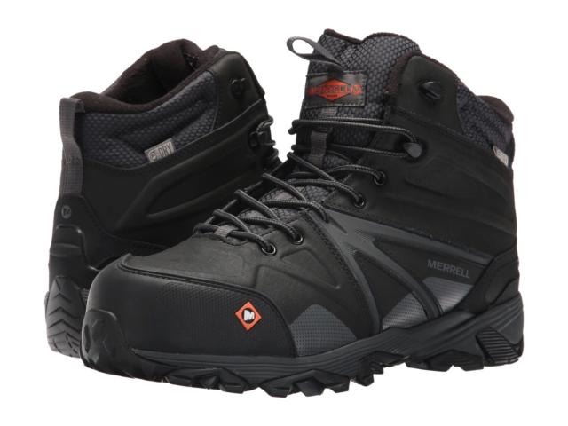 db1d97509f6 Merrell Trailwork Mid CT Hiking/Work Boots Waterproof - Comp. Safety Toe  J15727