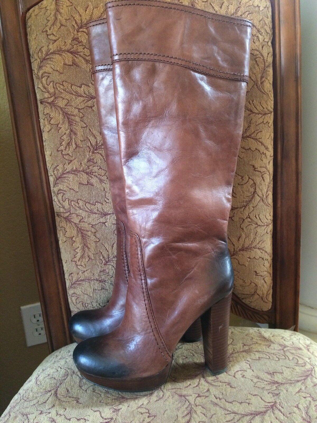 Vince Camuto damen's Tall braun Leather Stiefel Stiefel Stiefel Größe 10 KNEE SOLID 9c39a4