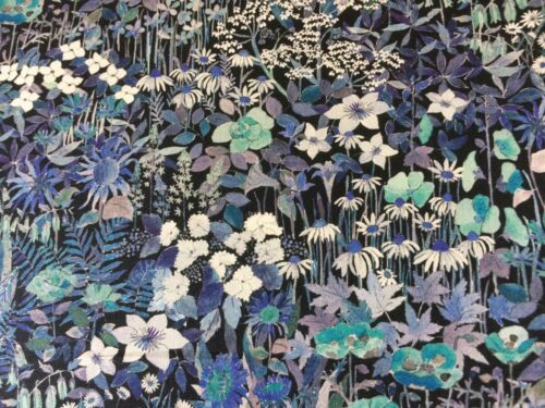 FARIA FLOWERS  C 1.00 METRE of THIS AMAZING PRINT by LIBERTY on TANA LAWN COTTON