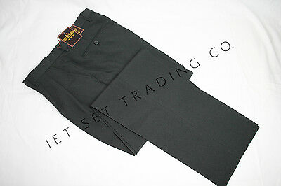 MENS CHARCOAL DRESS PANTS TAILORED TROUSERS PLEATED SLACKS SIZES 30 - 40