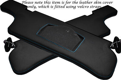BLUE STITCH FITS NISSAN 300ZX Z32 90-95 2X SUN VISORS LEATHER COVERS ONLY