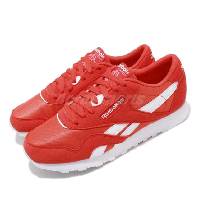 Reebok CL Nylon Color Canton Red White Classic Mens Womens Running Shoes  CN7446