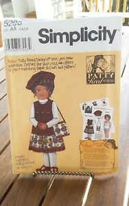 Oop-Simplicity-Patty-Reed-5296-girls-jumper-hat-bag-back-to-school-sz-3-6-NEW