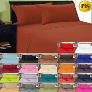 1800-Thread-Count-4-Piece-Bed-Sheet-Set-All-Sizes-FREE-SHIPPING