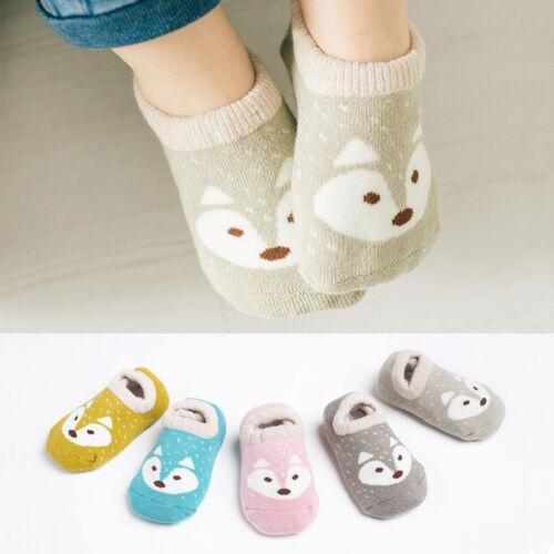Baby Boy Girl Cartoon Socks Anti-slip Cotton Sock Floor Slipper Soft Shoes Boots