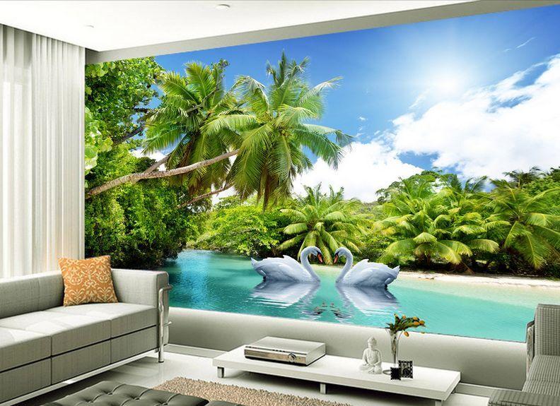 3D tropicale art Parete Murale Foto Carta da parati immagine sfondo muro stampa