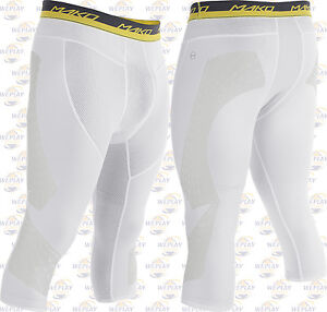 a5de2b76c3684 Details about Easton Mako Adult Mens Baseball 3/4 Length Sliding Shorts  A167916 - White