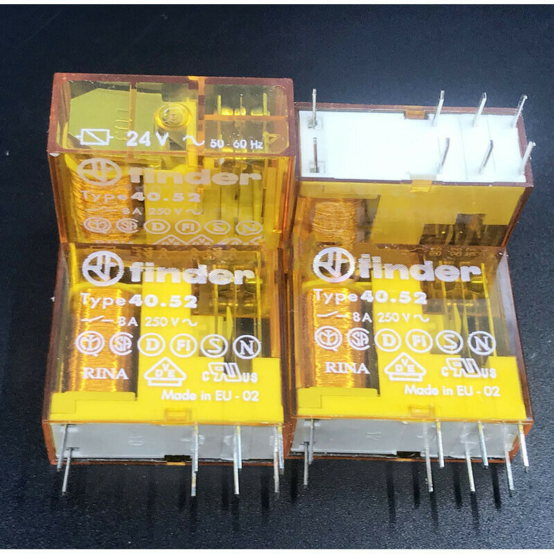 FINDER 40.52 8A 250V BOBINA 24V 50-60Hz
