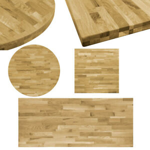 Solid Oak Wood Dining Table Top