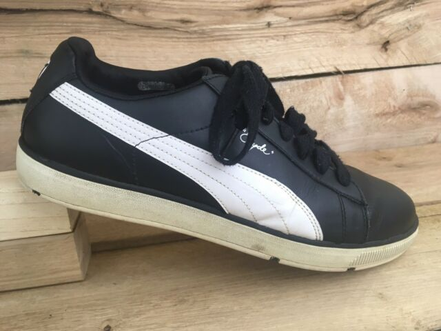 Puma Mens Black White 185821 02 Pro Cycle Clyde Spikeless Golf Shoes Sz  10.5 US a862ab20b