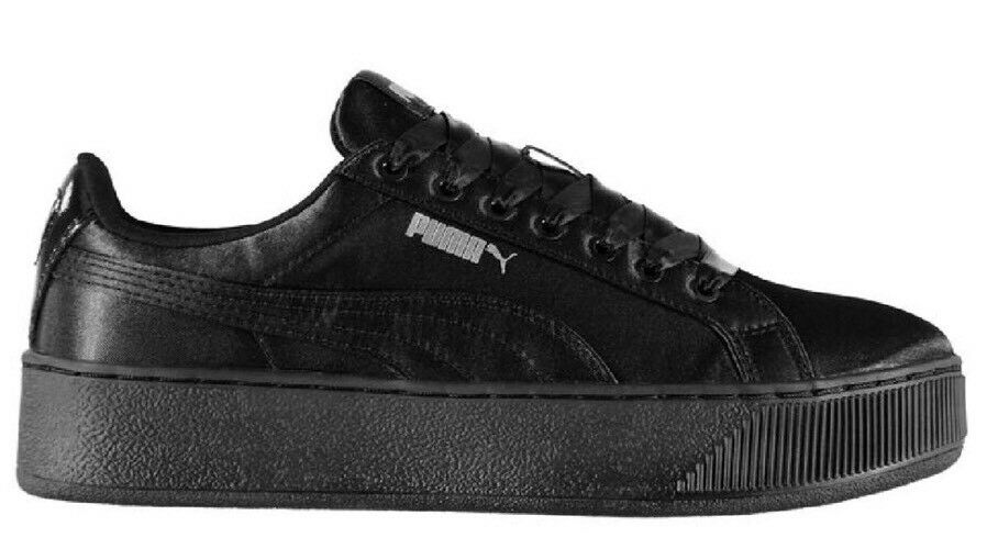 Puma Ladies Black Vikky Platform Trainers Uk 6.5