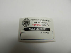 Image is loading 24-TOYOTA-CLEAR-OIL-CHANGE-SERVICE-REMINDER-STICKERS-