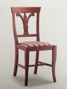 Sedie In Legno Arte Povera.Sedia In Legno Classica Imbottita Arte Povera Ebay