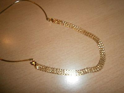 1 Damenhalskette Goldfarben Runde Plättchen Neu Modeschmuck