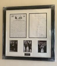 Reduced From £800! Framed,The Krays Picture Original Letter Reggie, Certificate.