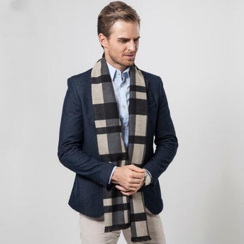 Warm Men/'s Cashmere Scarf Winter Autumn Classic Plaids Shawl Five Colors Scarves