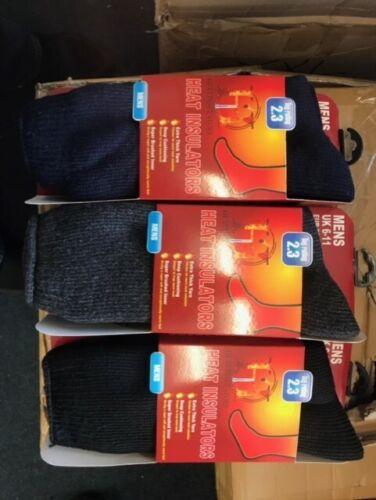 Mens Thermal Winter Warm Foot Socks Heat Insulators Tog Rating 2.3 Super Soft So