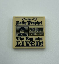 The Daily Prophet Pattern NEW Lego TILE Decorated 2x2 Harry Potter