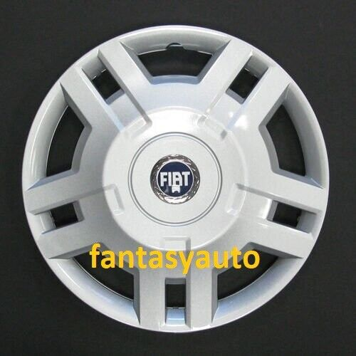 Fiat Ducato Dal 2009 /> 1 Una Borchia Coppa Coppone Copri Cerchio 15 Logo Blu