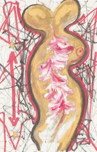 Mircea Marosin (1921-2007) - 20th Century Pen and Ink Drawing, Two headed Figure