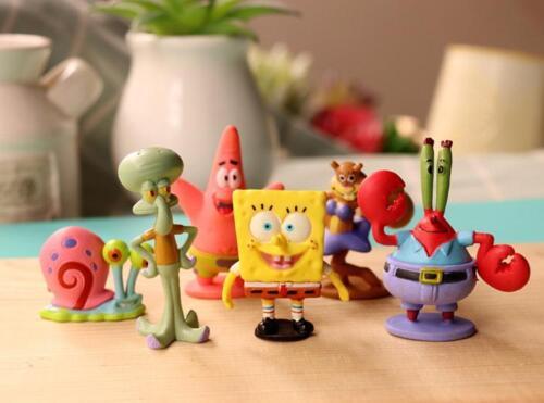 SpongeBob Squarepants Patrick Star Squidward Tentacles PVC Figure Toys 6pcs Set