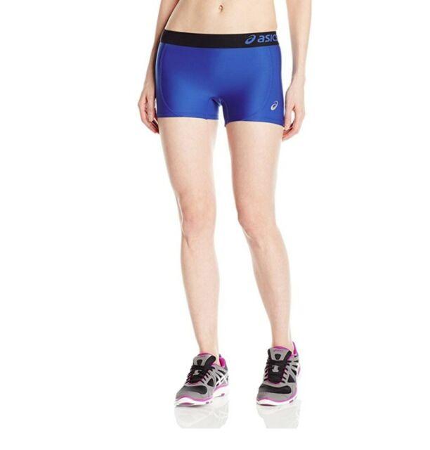 ASICS Women's Team Short Royal Blue/Black Size Large Sport Athletic