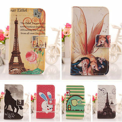 1X Lovely Design PU Leather Case Skin Protector Cover For Lenovo Smartphone New