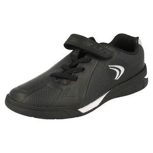 deporte Clarks para Leap Leather Jnr Award Black Zapatillas de niños 7qg55w