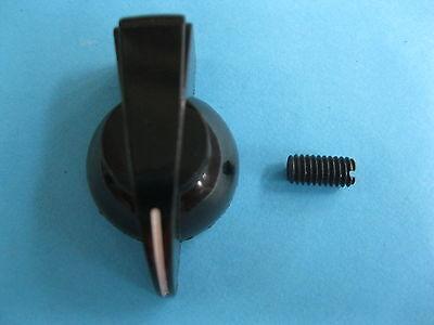 10 pcs Black Plastic Amp Knob Chicken Head Chickenhead Hole Diamete 6mm