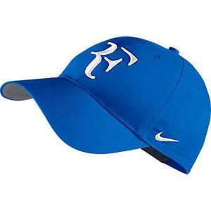 New Nike RF Roger Federer Hat Cap Soar   White Tennis Blue Dri Fit ... c2d85e563ec