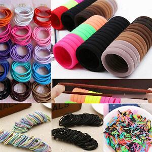 100pcs-Women-Elastic-Rope-Fashion-Hair-Ties-Ponytail-Holder-Head-Band-Hairbands