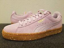 Women's Shoes PUMA Suede Classic Platform Sneaker Lilac Snow-Puma Team Gold 6.5