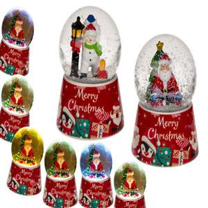 LED-Christmas-Snow-Globe-Santa-Snowman-Snowglobe-Decoration-Stocking-Filler-Gift