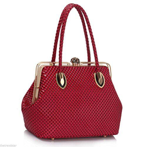 Womens Handbags Ladies Designer Bags Satchel Faux Leather Large Shoulder Bag New