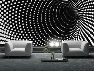 Das Bild Wird Geladen Tapete Wandbild Foto Schwarz Abstrakte Riesige Wand  Poster