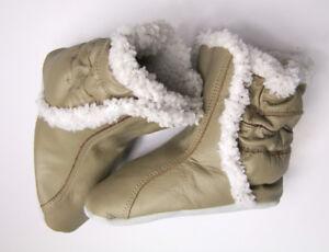 huge selection of c4b6a 4beff Details zu Baby Winter Stiefel Echtleder Schuhe Leder Boot Krabbelschuhe Gr  6-12M 19 20 NEU