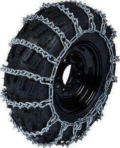 TireChain.com 26 X 10 X 12 26 10 12 ATV UTV 2 Link V Bar Tire Chains Set of 2