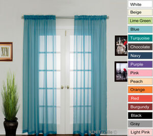 NEW-Elegant-Sheer-Voile-Curtains-Rod-Pocket-280W-x-213-230L-two-panels