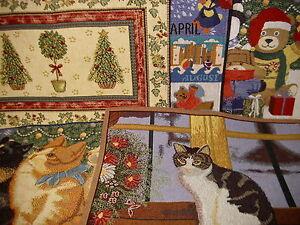 sander gobelin tischset katze b ren mistel tischmatte weihnachten freie auswahl ebay. Black Bedroom Furniture Sets. Home Design Ideas