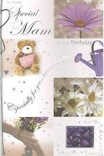 Tarjeta Cumpleaños Para Mam. Un Muy Especial Mamá En Su Tema De Flores