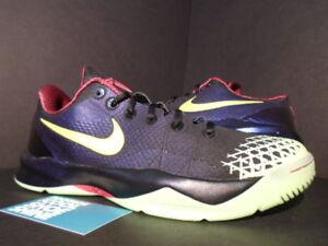 f55129f2110a Nike Zoom KOBE VIII 8 VENOMENON IV 4 BLACK PURPLE CHIFFON GLOW BLUE ...