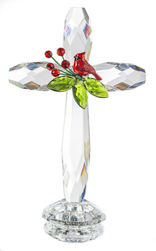Ganz Cardinal Standing Cross Acrylic 7.5 Inches