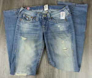 True Religion Jeans Para Mujer Estilo Joey Ligera De Lavado Con Aspecto Envejecido Flare 27w X 32 5 Ebay
