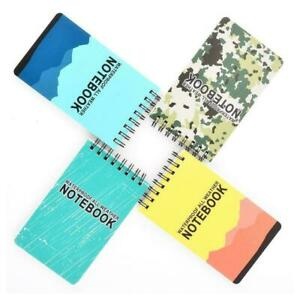 Portable-Waterproof-Spiral-Notebook-All-Weather-Rain-Notepad-book-Pocket-Ou-K1Y5